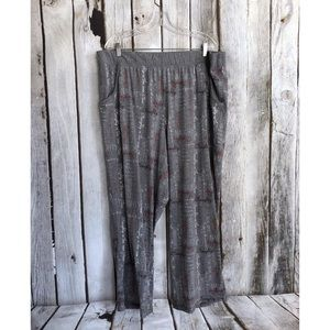 Cacique Gray Naughty is the New Nice Print Pants